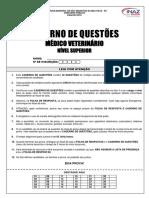 0011 Caderno de Questões Médico Veterinário Nível Superior