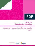Guia de Orientacion Competencias Especificas Modulo de Investigacion en Ciencias Sociales Saber Pro 2017 (1)