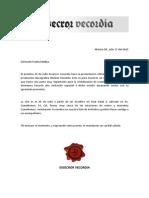 Invitación Franky Medina - PesadillaEV