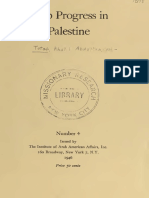 Arab Progress in Palestine