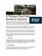 5 Things That Can Divide a Church