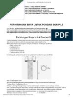 Perhitungan Biaya Untuk Pondasi Bor Pile _ Bored Pile