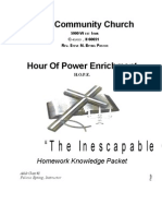 Hour of Power - Adult Class II - The Inescapable God Homework Knowledge Packet