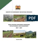 KSIF Kenya Strategic Investment Framework on SLM 2017 2027