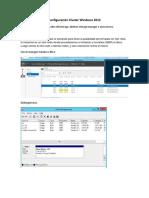 Configuracion Cluster Windows 2012 2