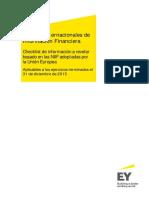EY NIIF Checkliks de Desgloses IFRS