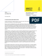 Amnesty Letter to Twitter 26 Jan 2018