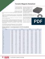 Ferrite Magnets-ceramic Magnets Datasheet v1