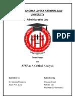 Prasoon Pol ProjectAFSPA Act 1958