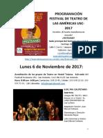 programación de teatro - festival de las Américas