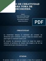 Modelo de Creatividad Para Toma de Decisiones