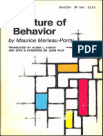 Ponty the Structure of Behaviour 1963