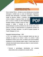 Orientações PTG AEDU 2018