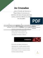 As Cruzadas_ Contexto Histórico e Resumo Das 8 Cruzadas