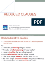 Week 07-English 2-Reduced Clauses