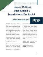 Tiempos Críticos, Subejetividad y Trasformacion Social