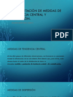 Interpretacion de Medidas de Tendencia Central y Dispersion