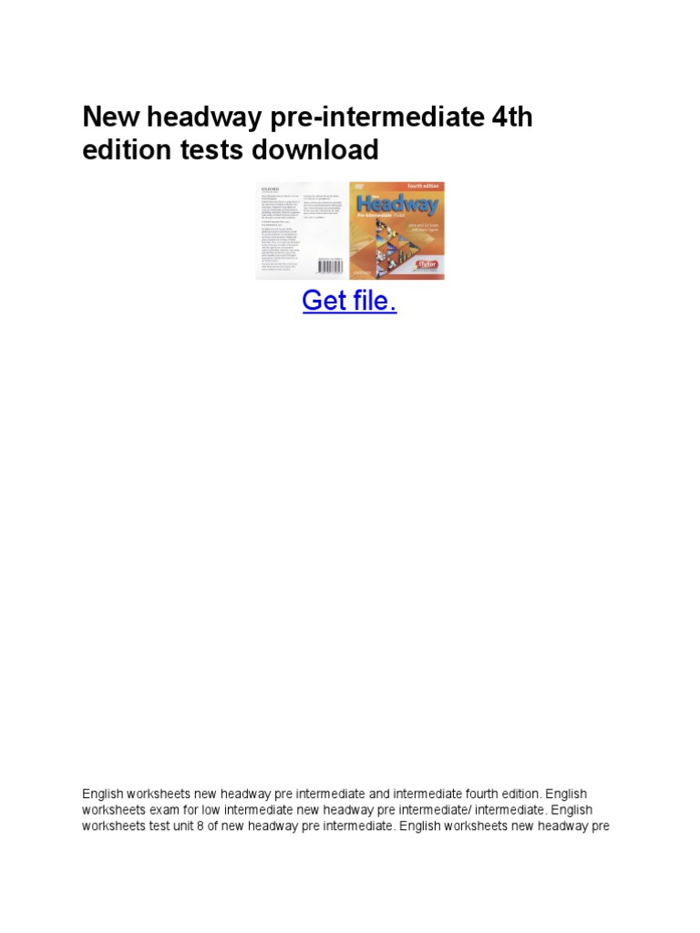 new headway pre-intermediate 4th edition tests download.pdf