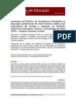 Avaliação Da Política de Assistência Estudantil Na Educação Profissional de Nível Técnico