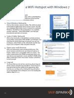 WiFiSPARK User Guides Windows 7 V1