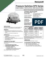 DPS 200 Presostat Tehnicka Dokumentacija