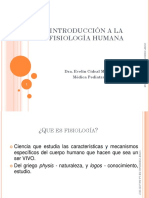 Introduccion a La Fisiologia Humana