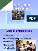 Ideas Para Celebrar El Culto Familiar