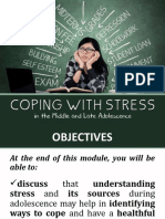 Coping With Stress in the Middle and Late Adolescence