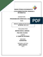 MANUAL TECNICO APLICACION JAVA GENESIS.docx