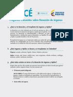 ABC Donacion de Organos. Minsalud
