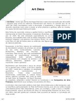 Art Déco - Conceito e História - InfoEscola