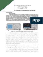 Prática 6 Osciloscopio, Gerador de Sinais e Multímetro