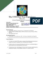 UT Dallas Syllabus for rhet1101.048.10f taught by Melissa Hernandez-Katz (mhkatz)