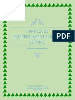 Cartilla de Emprendimiento Grado Septimo