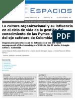 La Cultura Organizacional y Su Influencia