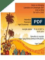 2018 Chamada Curso Ferias
