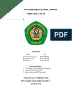 Laporan Praktikum Pengembangan Formula Makanan