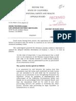 2008 Cal/OSHA report Exide Technologies Inspection Report Vernon