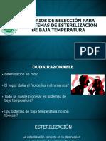 Criterios de Seleccion de Los Metodos de Esterilización de Baja