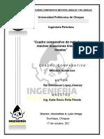 Cuadro Comparativo Ec. Lineales y No Lineales