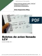 Llenado de Boleto de Avion RCIVA - Bolivia Impuestos