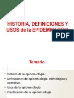 Historia Definición Epidemiología
