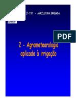 Agrometeorologia aplicada 2011