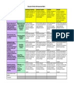 education portfolio self assessment matrix