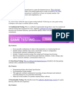 Game Testing Techniques
