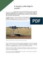 Bombeo Solar en Pozos
