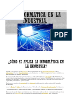 La Informatica en La Industria