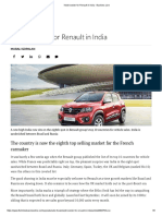 Kwid Booster for Renault in India - Business Line