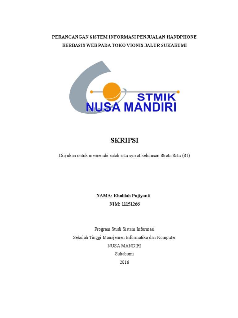 Contoh Soal Dan Materi Pelajaran 8 Contoh Skripsi Nusa Mandiri