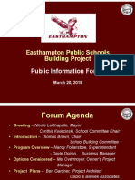 Easthampton School Building Public Forum 3-20-18